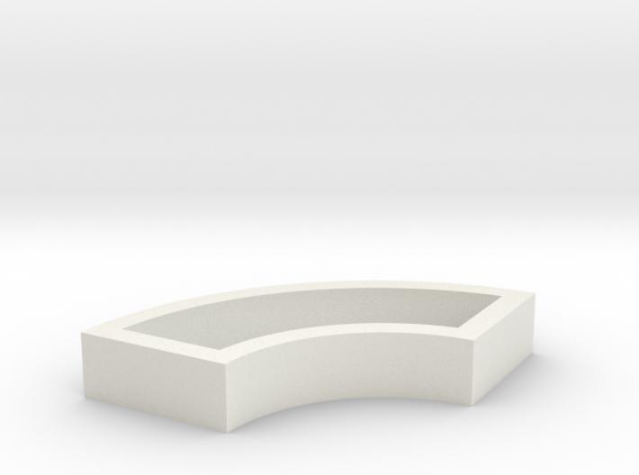 Parkhecke quadratisch doppelt gerundet (Buchsbaum) 3d printed