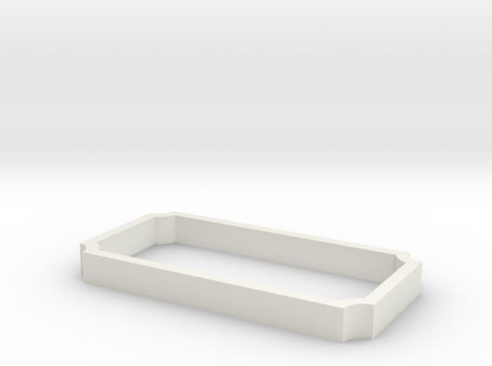 Parkhecke rechteckig Ecken eingerückt (Buchsbaum) 3d printed