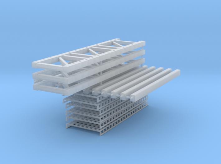 Pallet Rack 3 High-2 Wide 3d printed
