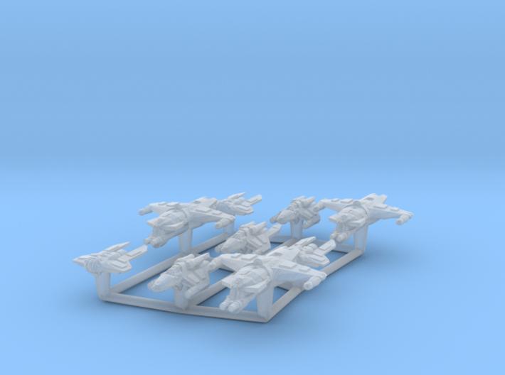 (Armada) Hutt Fighter Set 3d printed