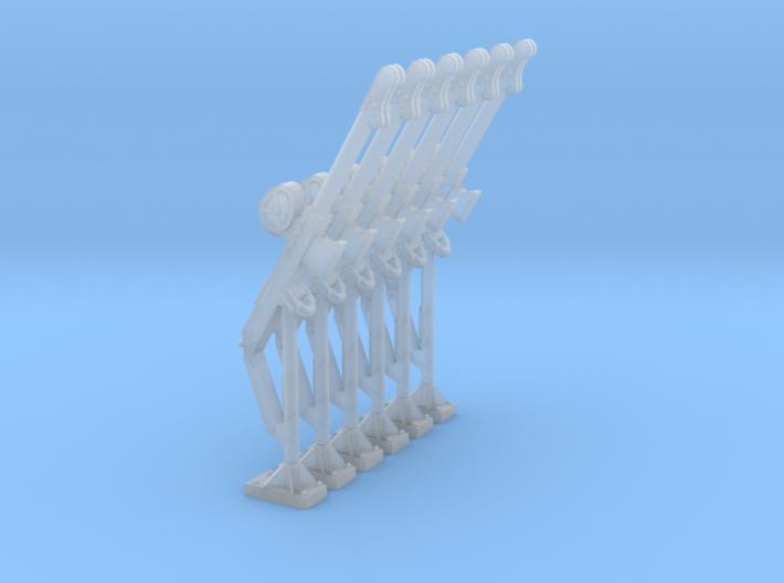 Fixed davit crane fall 01. HO Scale 1:87 3d printed