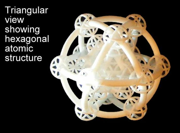 Metatron's Hypercube Variations 50mm 3d printed Triangle centered projectiong