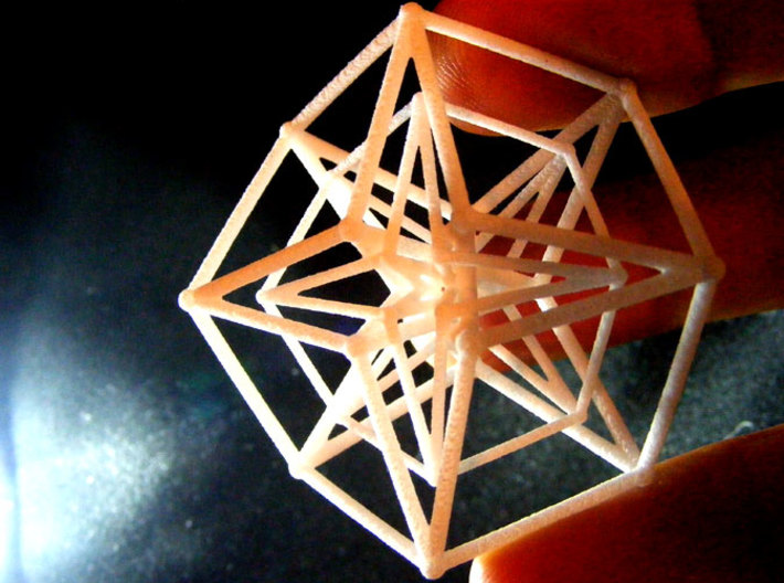 Sacred Geometry: Toroidal Hypercube Double 50mm 3d printed