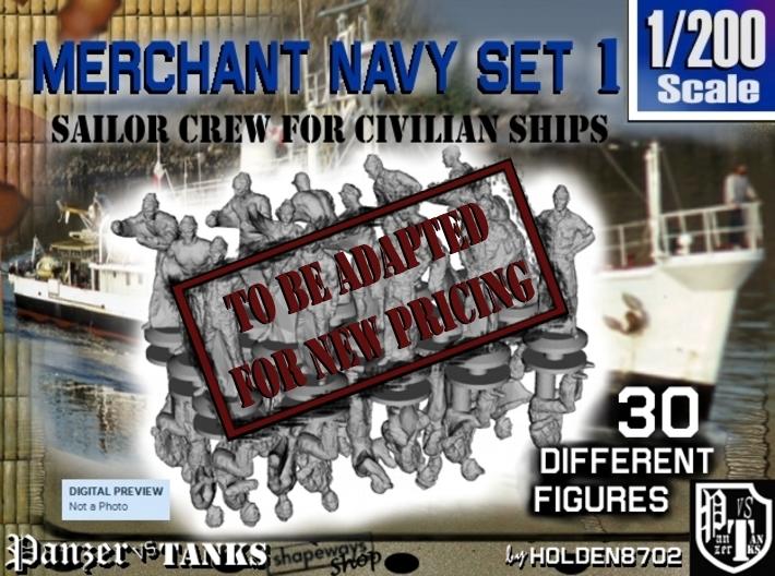 1-200 Merchant Navy Crew Set 1 3d printed