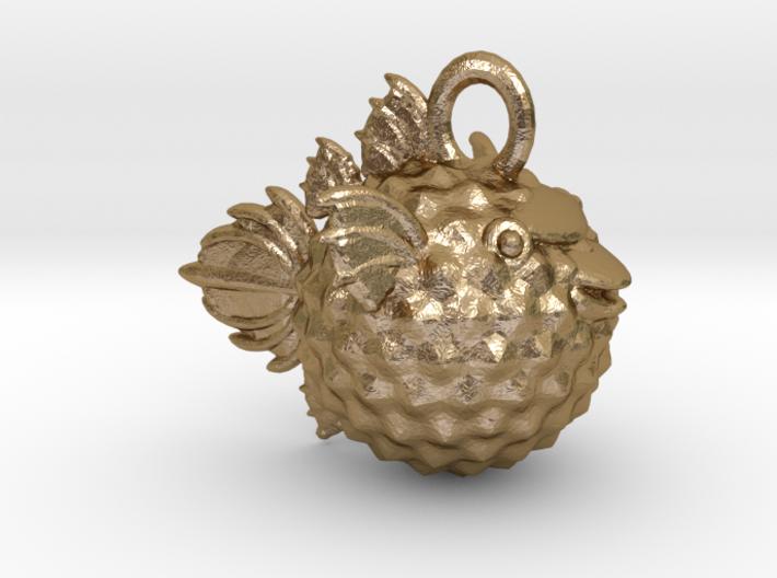 BlowFish Pendant 3d printed