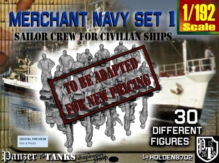 1-192 Merchant Navy Crew Set 1 3d printed