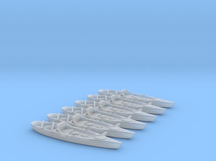 Marine Kayak 02. HO Scale (1:87) 3d printed Marine Kayak in scale 1:87. FUD