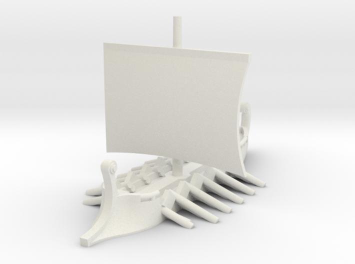 1/700 Short Trireme (1-piece) 3d printed