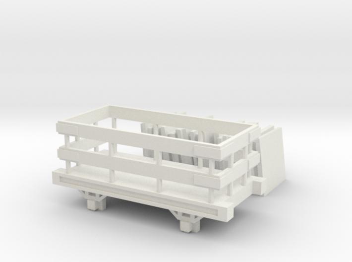 OO9 Slate Truck With Slate Load Talyllyn / SR 3d printed