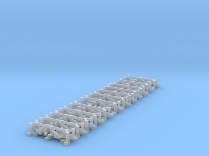 Mig 29K Set, 24 pc, 1/1800 3d printed