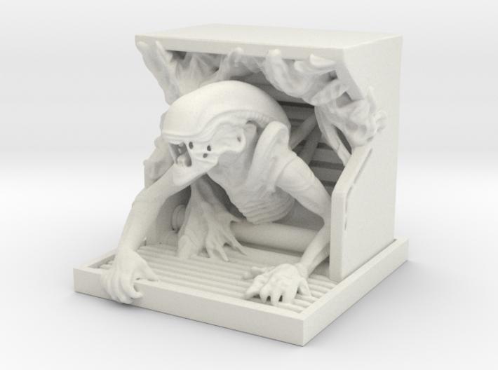 Alien Sculpture 3d printed