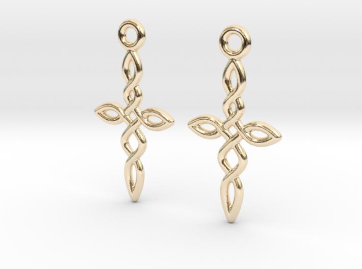 Celtic Weave Earrings - WE011 3d printed