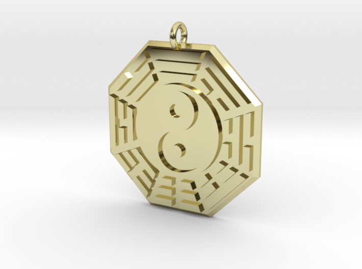 i ching pendant 3d printed