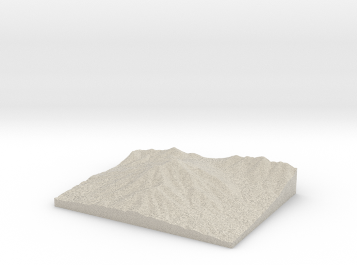 Model of Sharp Top Mountain 3d printed