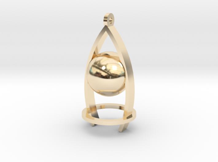 Melancholy ball earing 3d printed