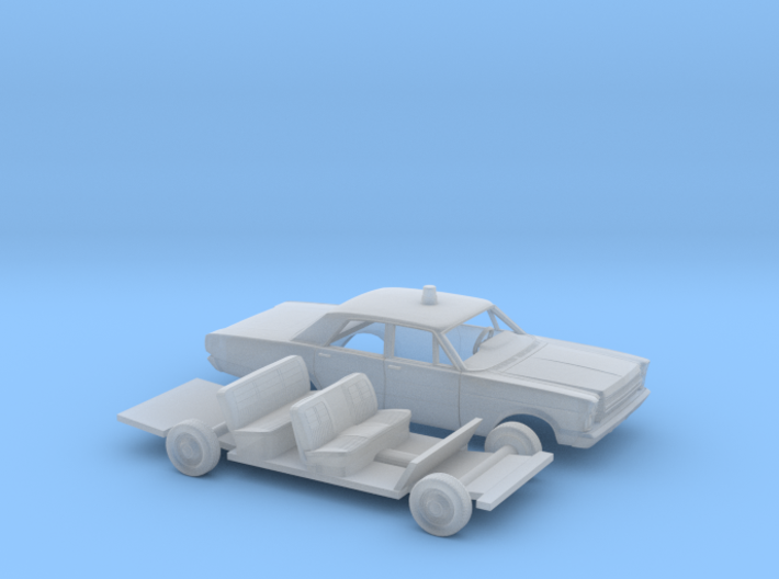 "1/160 1966 Ford Galaxie ""Police"" Kit 3d printed"