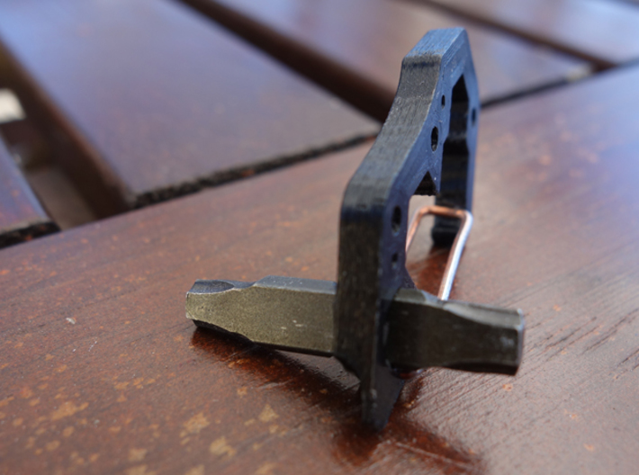 """Mini EDC Carabiner 8mm 10mm 12mm 1/4"""" 3d printed Works with standard bits or leatherman bits."""