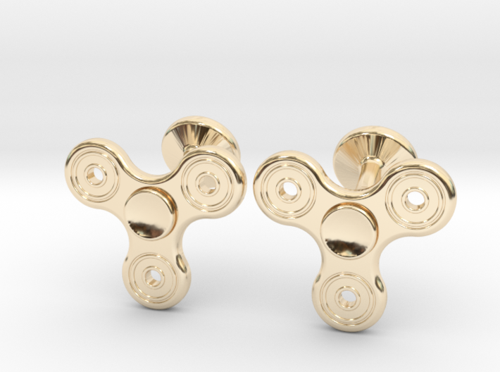 Fidget Spinner Cufflinks - LARGE 3d printed