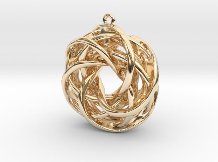 Interlocked tori earrings 3d printed