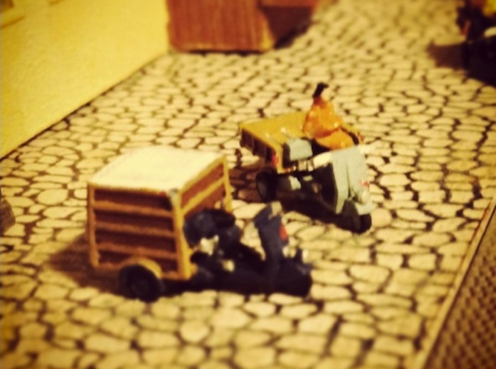 N Scale 1:160 2 Piaggio Ape Scooters 3d printed Figures not included