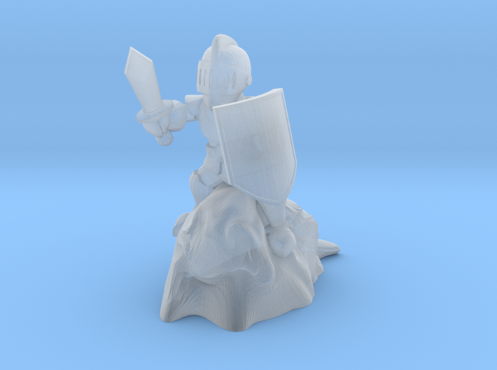 Sir Gerrik, Gnome Paladin, Champion of Slime 3d printed