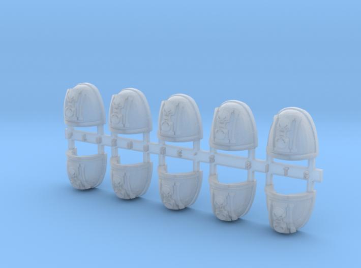 Hourglass & Skulls V.7 Shoulder Pads x10 3d printed