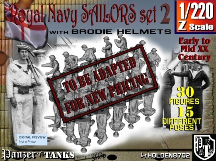 1-220 Generic Royal Navy Sailors Set 2 3d printed
