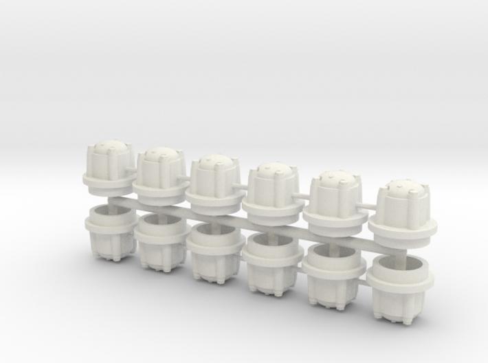1/16 M41 Wheel Hubs. 3d printed