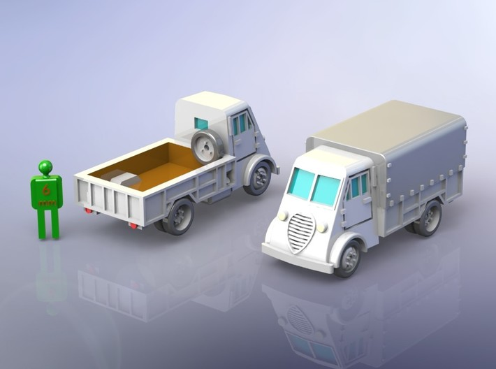 French Peugeot DMA 2to Truck 1/285 3d printed