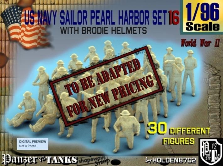 1-96 US Navy Pearl Harbor Set 16 3d printed