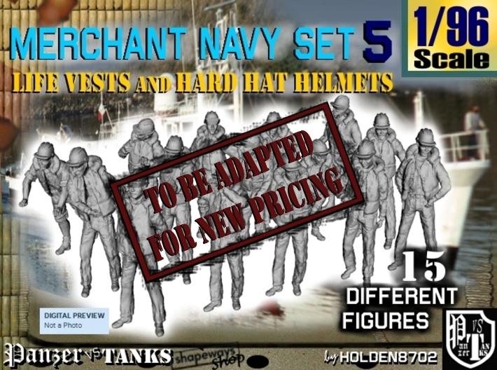 1/96 Merchant Navy Set 5 3d printed