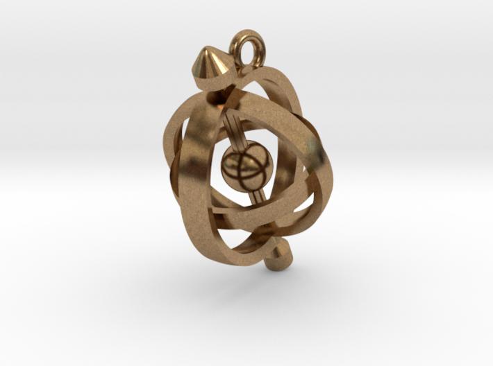 Armillary Pendant 3d printed