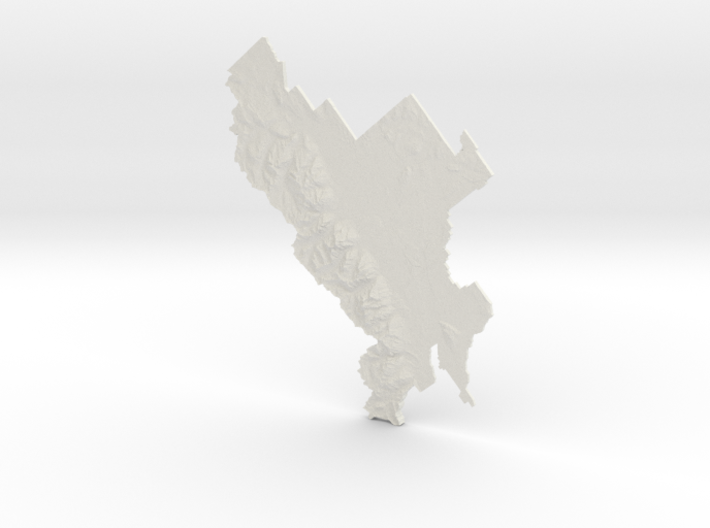 Grand Teton National Park, Wyoming, 1:100000 3d printed