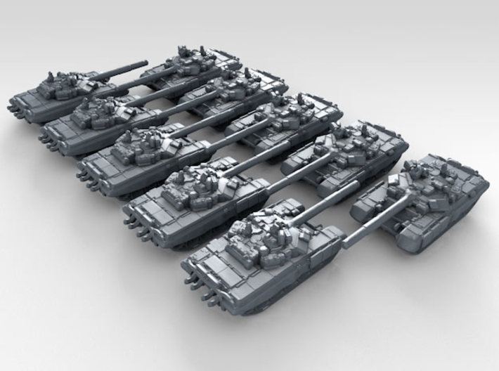 1/600 Russian T-90A Main Battle Tanks x10 3d printed 3d render showing product detail