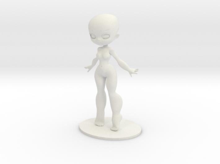 Girl DIY Figurine 3d printed