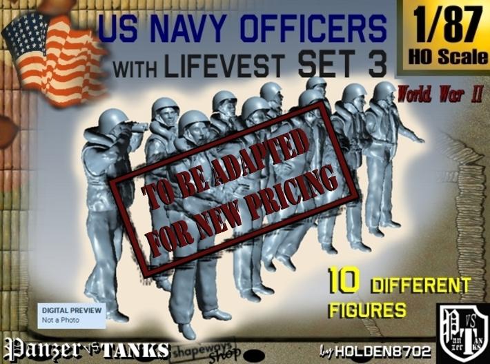 1-87 USN Officers KAPOK Set3 3d printed