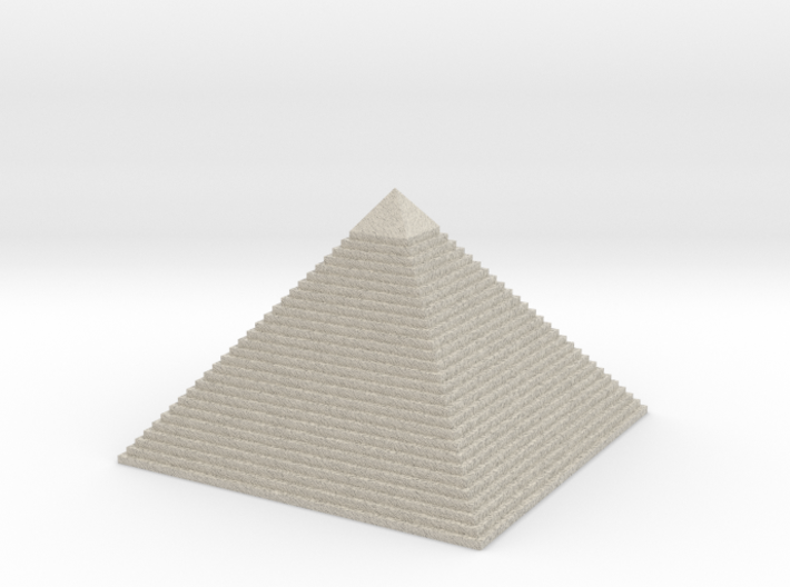 The Pyramid Of Cheops (social project) 3d printed