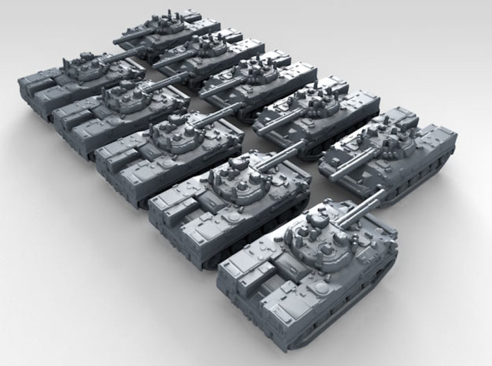 1/600 Russian BMD-4 Armoured Fighting Vehicle x10 3d printed 3d render showing product detail