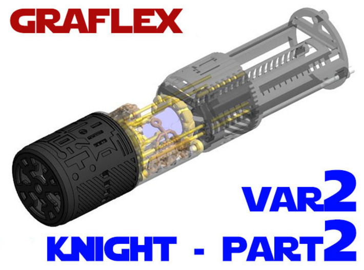Graflex Knight Chassis - Variant 2 - Part 2 3d printed