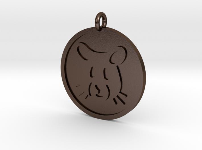 Hamster Pendant 3d printed