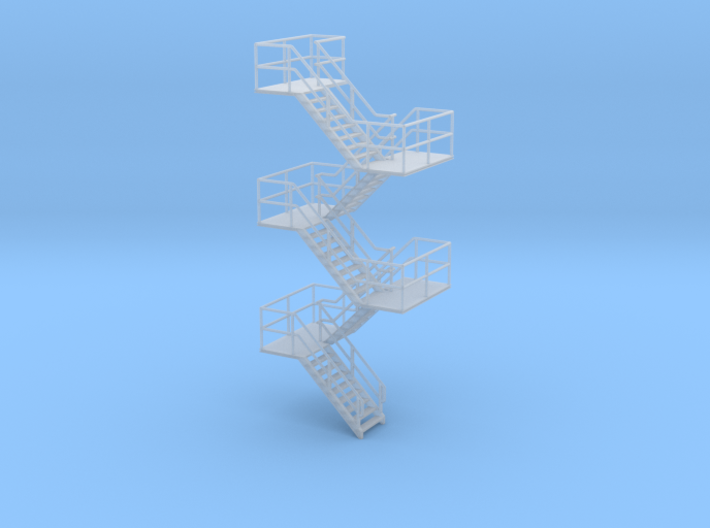 HO Staircase 94.3mm 3d printed