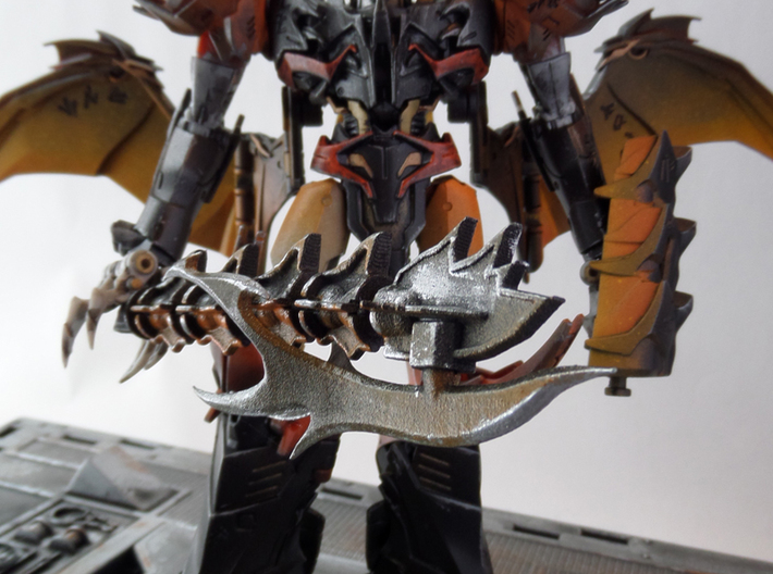 """TFP Voyager Beast King Tail/Sword Complete 3d printed Paint by <a href=""""http://www.tfw2005.com/boards/radicons-customs/974634-tfp-predaking-incedius-shapeways-upgrades.html"""">justdd on tfw2005</a>"""