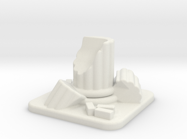 28mm Scale Small Column Ruin 3d printed