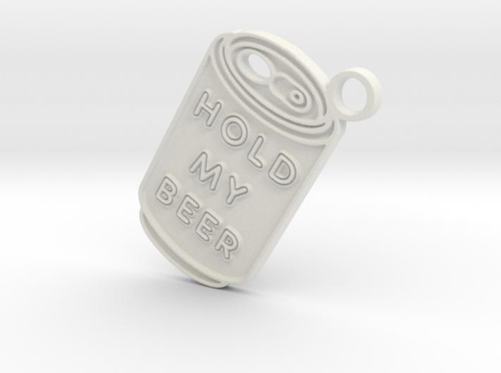 Hold My Beer Keyring 3d printed