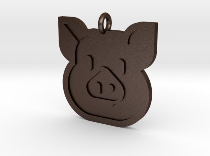 Pig Pendant 3d printed