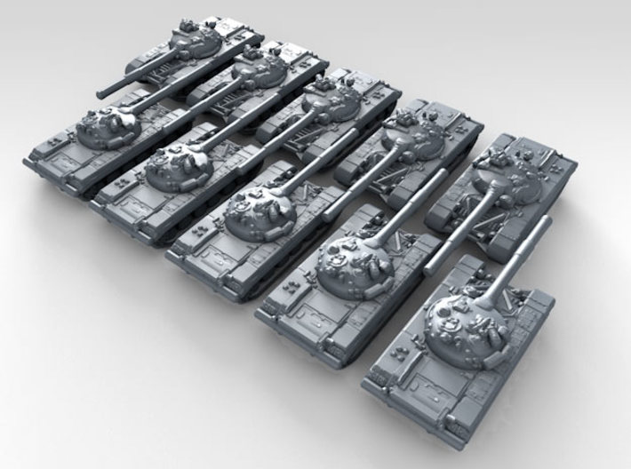 1/600 Russian T-64A Mod.1969 MBT x10 3d printed 3d render showing product detail