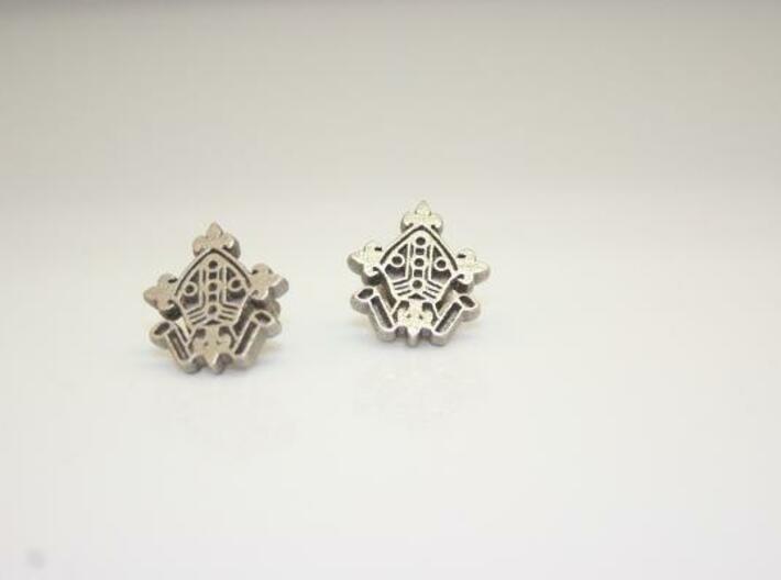 3D printed metal logo cufflinks 3d printed Photograph of the 3D printed Logo Cufflinks in Stainless Steel