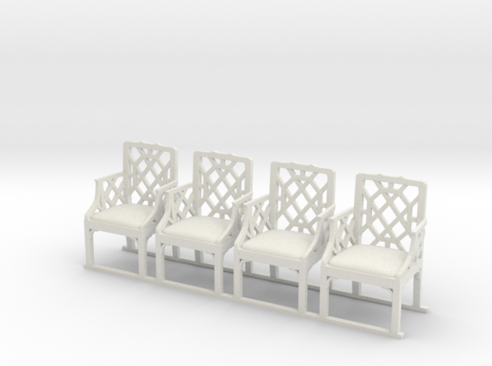 ArmChair 01. 1:24 Scale 3d printed