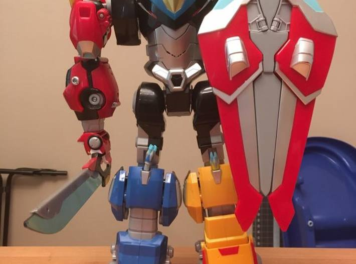 Lengendary Voltron Wing Coupler Shield 3d printed