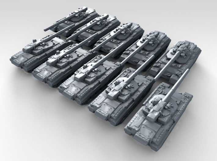 1/600 Russian Object 477 Molot AFV Prototype x10 3d printed 3d render showing product detail